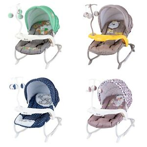 Baby Infant Rocker Bouncer Swing Reclining Chair and Toys 0M+ Different Designs