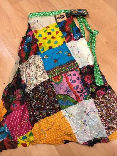 Gringo Hippy Patchwork Wrap Skirt