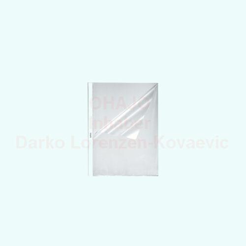 DIN A4 0,055 mm oben und seitlich offen herlitz Prospekthüllen genarbt