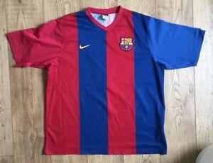 best sneakers 379b7 79143 Details about Barcelona FC Home Football Soccer Shirt No. 19 Messi No  Sponsor XXL Men's