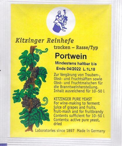 KITZINGER Arauner WEINHEFE TROCKENHEFE 5 g für 10-50l universal