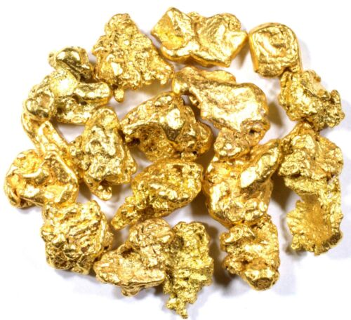 1.550 GRAMS ALASKAN YUKON BC NATURAL PURE GOLD NUGGETS #4 MESH FREE SHIPPING