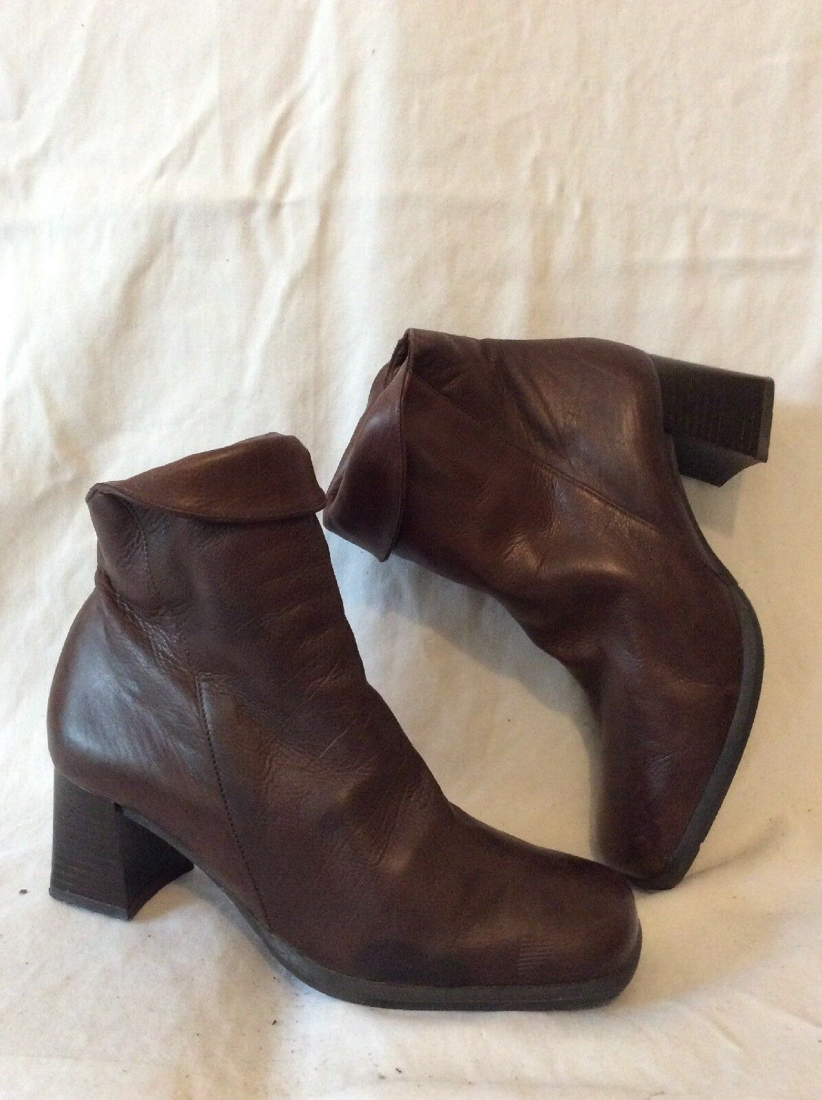 Jonelle Brown Ankle Leather Boots Size 39