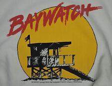 Vtg 90s 1994 Baywatch Hasselhoff Pamela Anderson Sweatshirt L Pullover Promo TV
