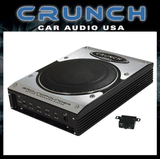 Crunch GP800 Aktiv Subwoofer flach Untersitzmontage NEU GP-800 20cm Sub 200 Watt