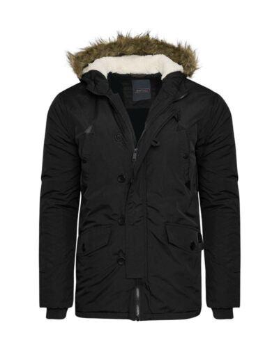 NUOVA linea uomo giacca trapuntata moda Pelliccia Cappuccio Imbottito Invernale Tasche Militare Cappotto Top