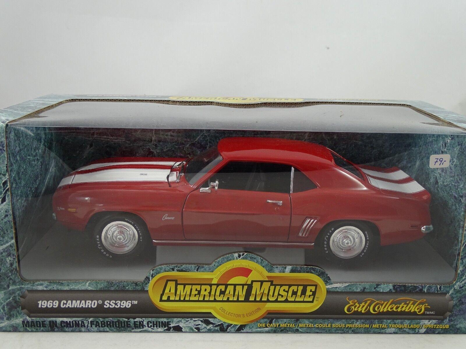 1 18 ERTL  32009 - 1969 Camaro ss396 rosso bianca-rarità §