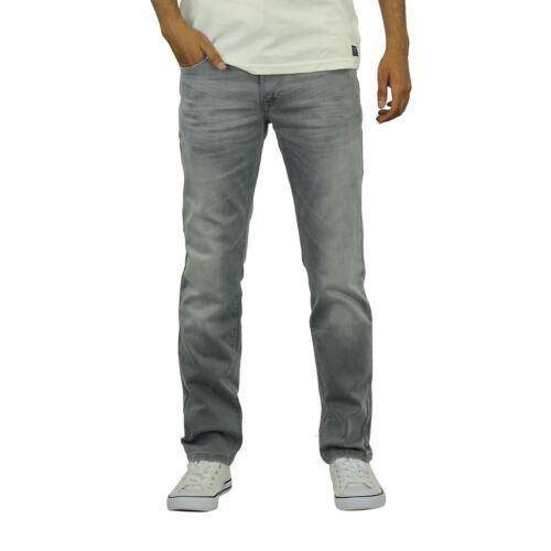 Jeans da Uomo Crosshatch snelle SLIM LEG Morbido Stretch Denim Pantaloni