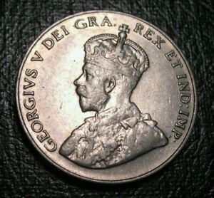 Old-Canadian-Coins-1924-Canada-5-Cents-BEAUTY