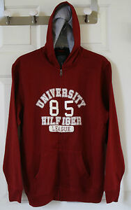 NWT Boy/'s  Tommy Hilfiger Full Zip Sweater Sweatshirt White Blue Red