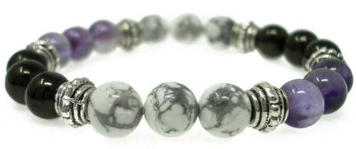 Healing EMOTIONAL BALANCE 8mm Crystal Intention Bracelet with Description Card