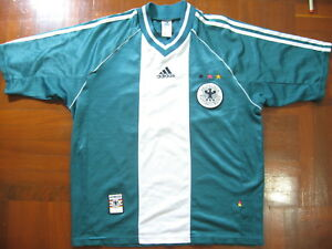 87ba6ec7266 GERMANY ADIDAS WORLD CUP 1998 AWAY FOOTBALL SOCCER JERSEY SHIRT M ...