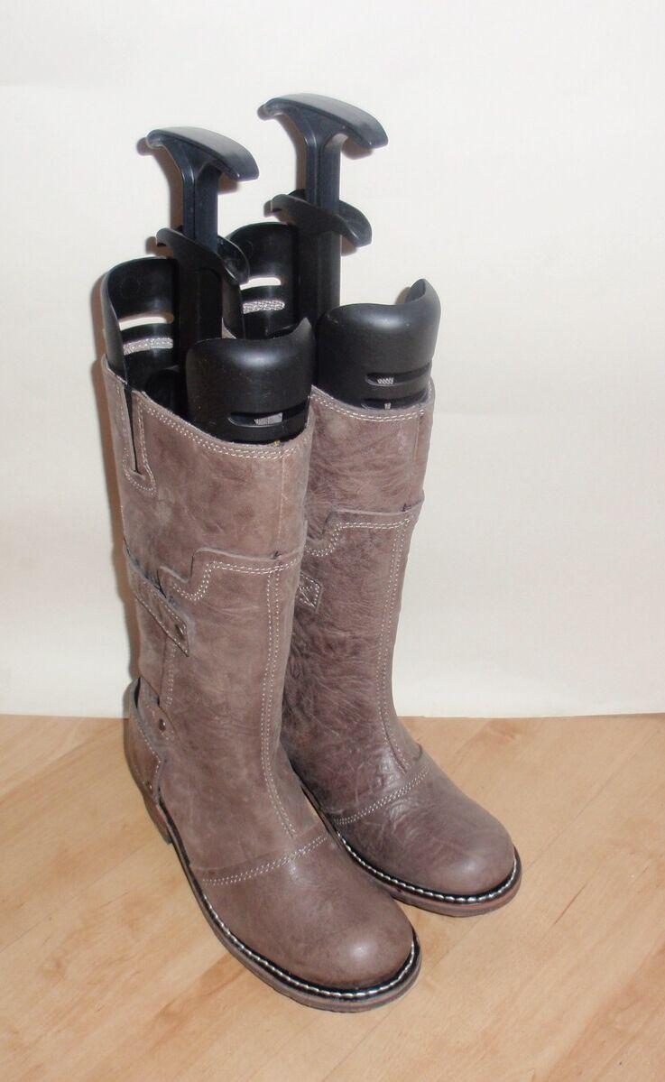 NEU Caterpillar Damenss Leder mid calf biker boots Größe 4 EU 37