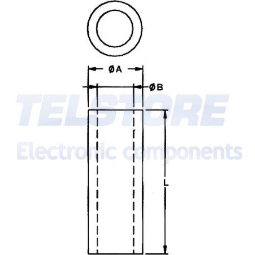 10pcs  Supporto distanziale PCB cilindrico plastica Lungh 10mm 30÷85°C TELSTORE