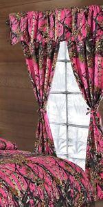 Natural Camo Curtain Valance 5 pc set; Regal Comfort brand