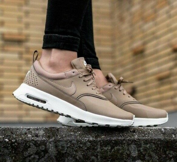 Womens Nike Air Max Thea Premium Trainers Shoes - 'Desert Camo' Beige Tan