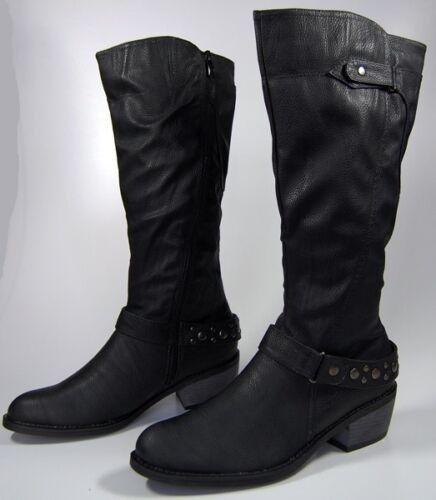 Damen Stiefel Schwarz Winter Schuhe Damenstiefel gefüttert Schuh mit Absatz