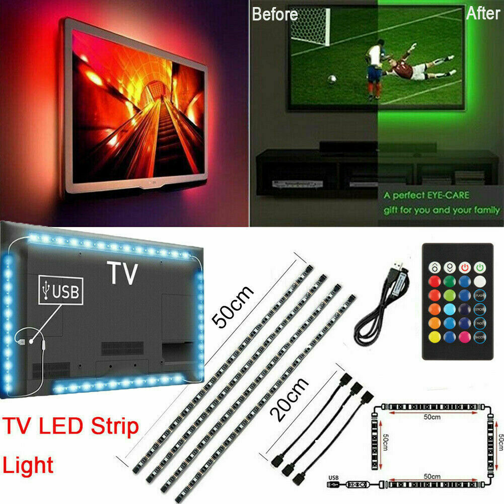 30 RGB CREE Leds LightPack clone USB kit PC Monitor Backlight Ambilight Boblight