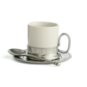 Arte-Italica-Tuscan-Espresso-Cup-amp-Saucer-with-Spoon-White-P2417S