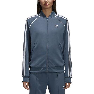 Adidas Women's SST Track Jacket Dark Steel Adicolor CE2394 NEW!