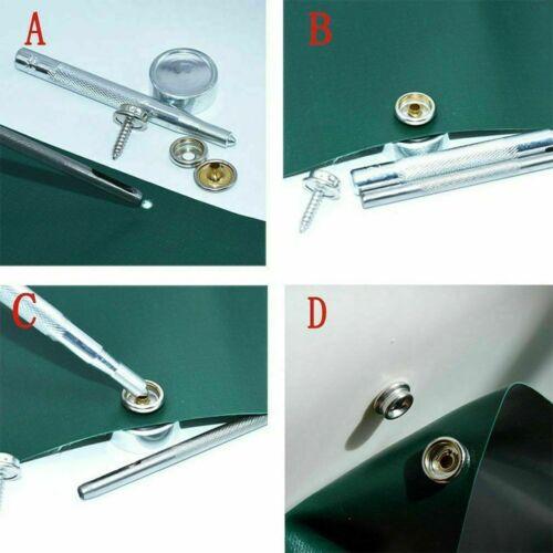 10pcs 3 Pièce Vis Presse Clous 15mm Laiton Fermeture Pression Pour Fixation Boat
