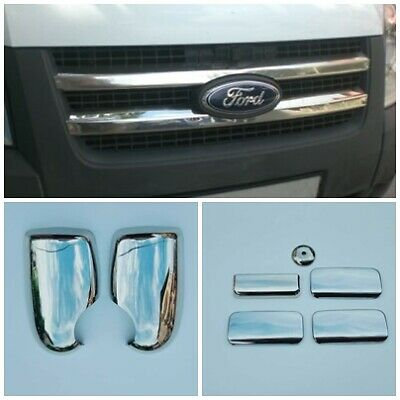2000-2013 Fit Transit MK6 MK7 Chrome Wing Mirror Cover Caps 2Pieces Stainless Steel