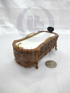 Miniature 1:12 Scale Doll House Victorian Carved Bath Tub For Doll House [ WN ]