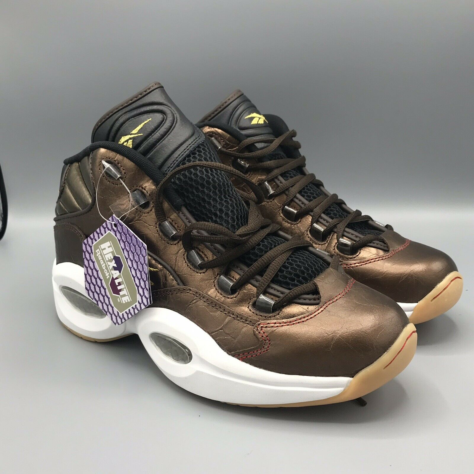 BD5844 REEBOK QUESTION MID X VILLA ALLEN IVERSON RETRO DRK DRK DRK Marronee BRASS 9.5 5f0713