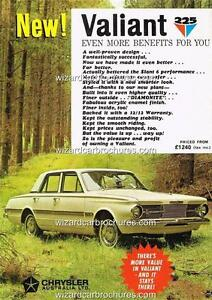 1965 VALIANT 225 AP6 SEDAN A3 POSTER AD SALES BROCHURE ADVERTISEMENT ADVERT