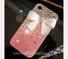 handmade bling i phone 4/4G/ 4s case cover skin bling crystal i phone 4 case bow