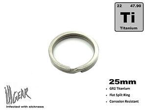 Titanium-Ti-Key-Chain-Split-Ring-25mm-OSD-for-EDC-Flashlights-Lanyards-ill-Gear