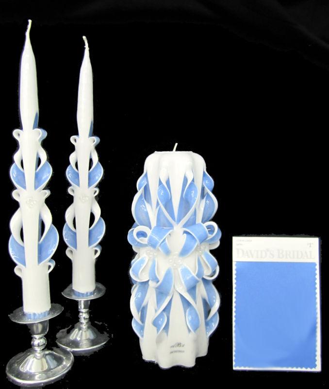 Sculpté à la main mariage Unité Bougies Set - 100% personnalisé