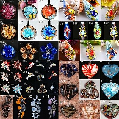 Mixed Colors Lampwork Art Murano Glass Bead For Pendant Necklace DIY Gifts