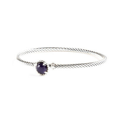 DAVID YURMAN Women's Chatelaine Bracelet with Black Orchid 3mm $350 NEW