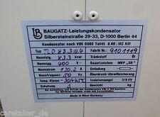 Baugatz Frako Leistungskondensator 83.3 kvar und 400 V