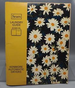 Kenmore 8751 6. 7 cu. Ft. He2 electric dryer manuals.
