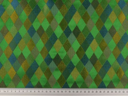 Brokat grün-multicolor Rauten 140cm
