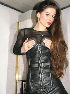 ECHTES-LEDER-Gothic-Corsage-Korsett-Real-Leather-3XL-Corset-Ledercorsage-K26