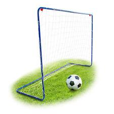 Garten Fußballtor in blau stabil Metall mit Stecksystem inkl. Heringe 122x182 cm