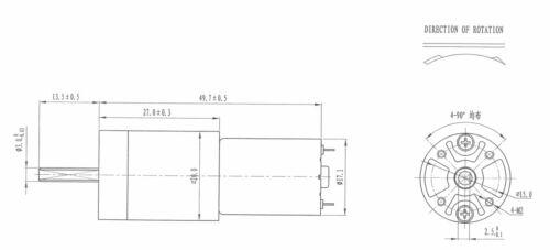 1PC ZGA20RU DC 12V 5RPM Geared Motor FOR Mitsubishi printer Ink fountain Motor