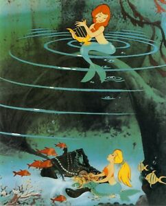 Vintage-1993-DISNEY-Art-Print-THE-LITTLE-MERMAID-Princess-ARIEL-Sea-Witch-URSULA