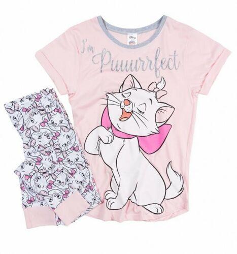 Official Women/'s The Aristocats Marie Puuuurrfect Disney Pyjamas