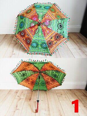 Vintage Women Handmade Cotton Parasol Lace Umbrella Party Wedding Bridal Decor