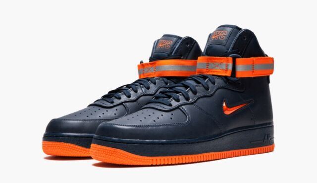 Nike Air Force 1 High Retro PRM QS Reflective Boots NYC NYFD AO1636 400 Size 12