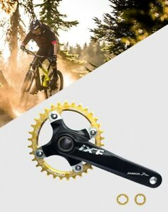 MTB Crankset Crank Arm 170mm w BB Narrow Wide Oval Single Chainring 32 34 36 38T