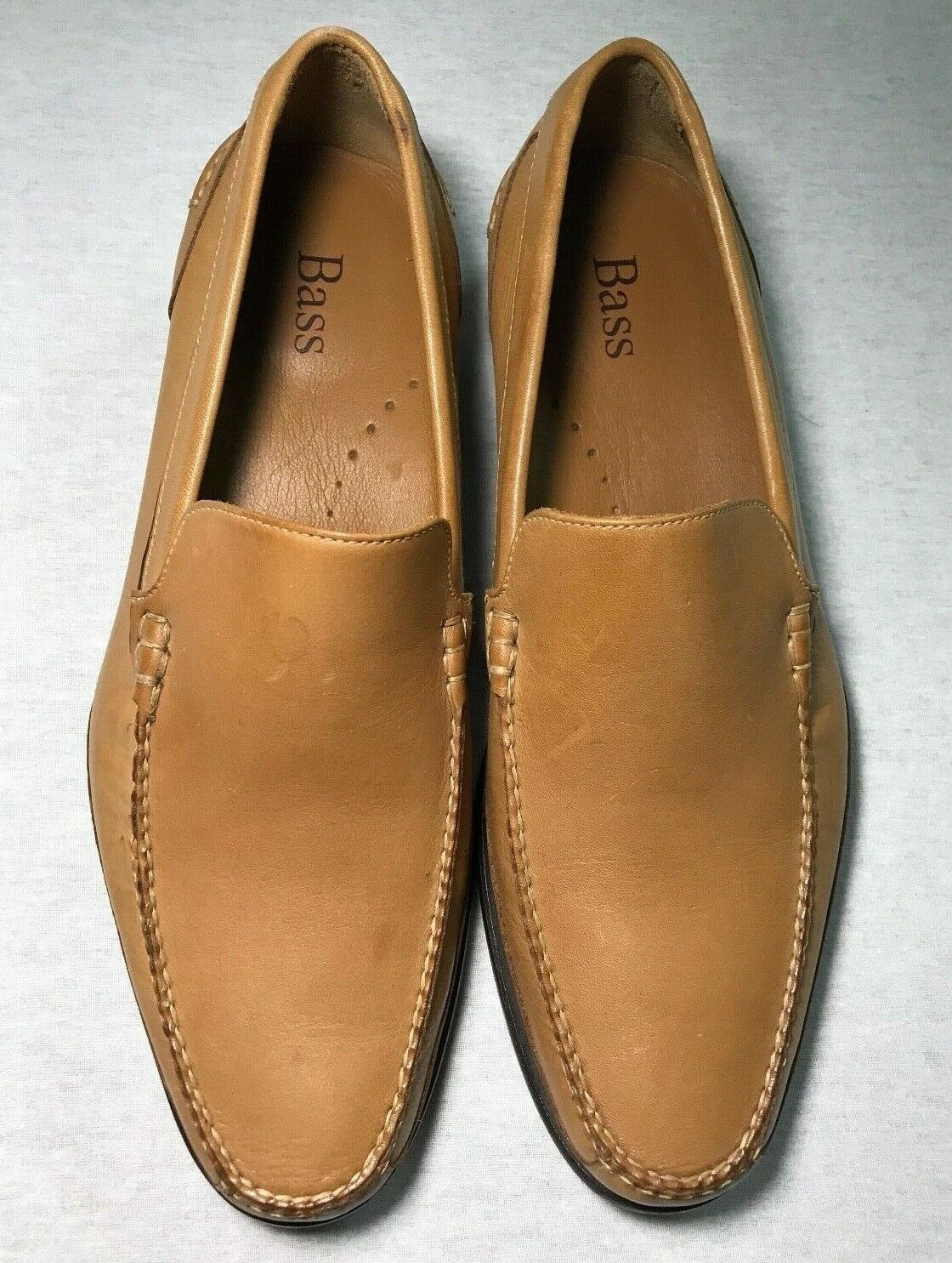 G.H. BASS WEEJUNS Rare Cream Farbe Leather Loafers 10 M
