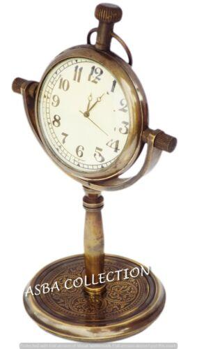 Antike Messing Tischuhr Vintage Tabletop dekorative Maritime Uhr graviert Gesche