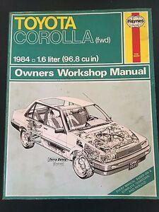 haynes toyota corolla owner s workshop service manual 1984 ebay rh ebay co uk toyota corolla 1984 service manual toyota corolla 1984 thru 1992 repair manual .pdf