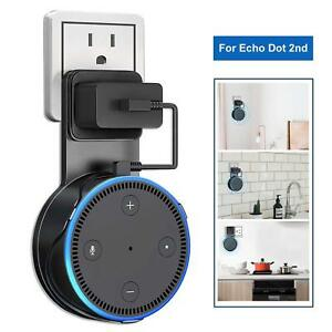 Wall-Outlet-Mount-Hanger-Holder-Stand-Bracket-With-Cable-For-Amazon-Echo-Dot-2