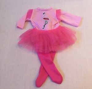 MY FIRST BABY ANNABELL PINK DOLL CLOTHES FLAMINGO BALLERINA TUTU DRESS SET